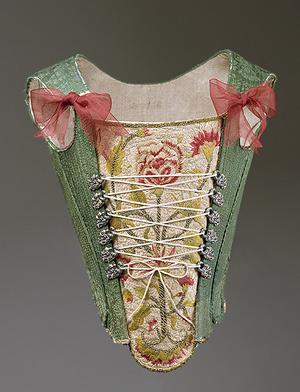 Corpiño. Tercer cuarto del siglo XVIII. Museo Metropolitano. Nueva York.
