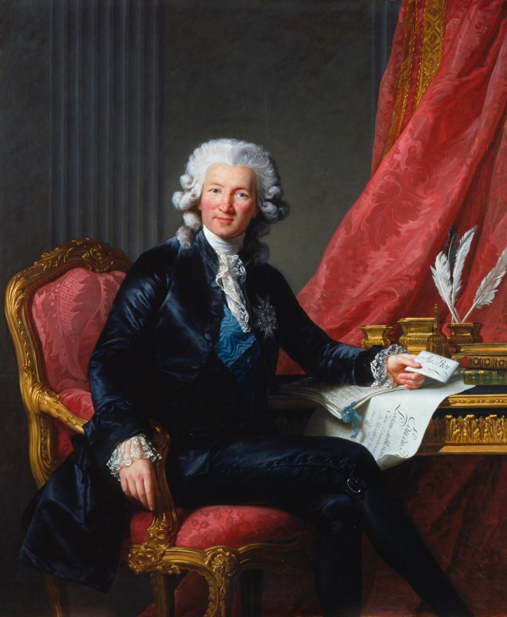 Louise Élisabeth Vigée le Brun. Charles-Alexandre de Calonne. 1784. Colección real inglesa.