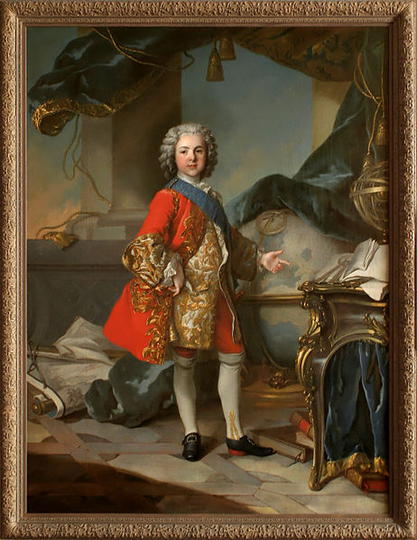 Taller de Louis Tocqué. Retrato de Luis de Francia, delfín e hijo de Luis XIV. c. 1738. Palacio de Versalles.