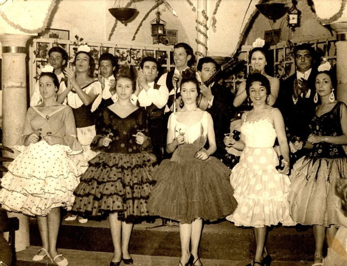 Flamenca. Lupe, Cristina Hoyos, y El Farruco, 1958