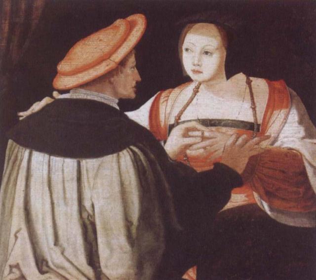 Lucas van Leyden. Los novios. ca 1520. Museo de Bellas Artes. Estrasburgo.