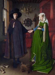 Jan Van Eyck. El matrimonio Arnolfini. 1434. National Gallery. Londres.