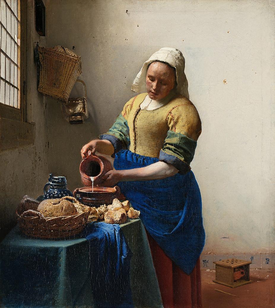 Johannes Vermeer. La lechera. Hacia 1658-1660. Rijskmuseum Museum. Ámsterdam.