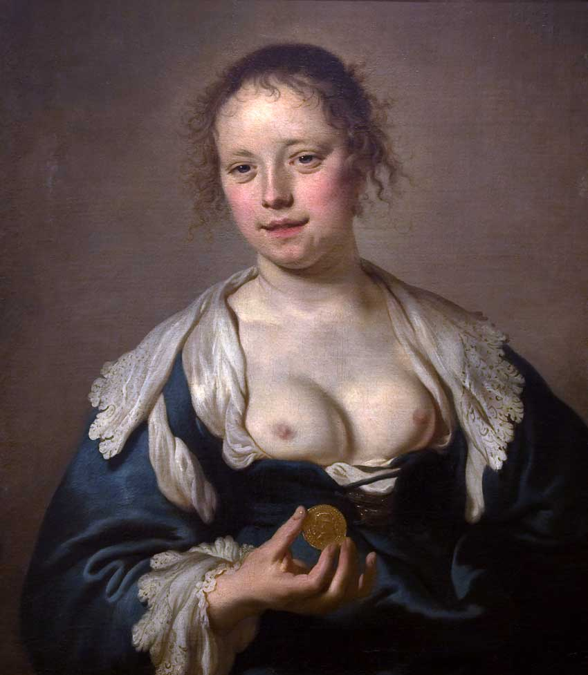 Jacob Adriaensz Backer. La cortesana. Museo de Arte Antica. Lisboa.