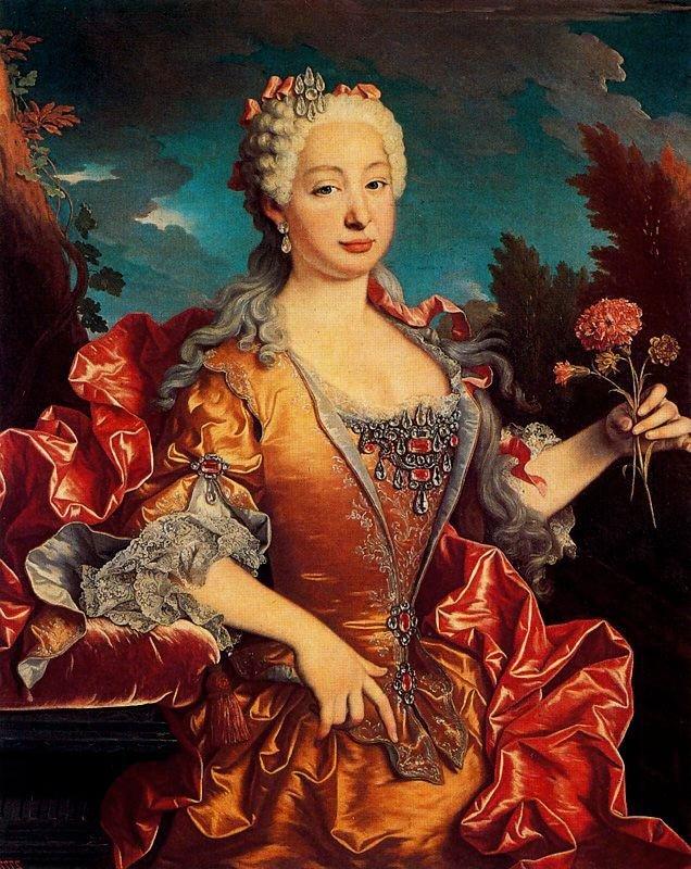 Jean Ranc. Bárbara de Braganza. Museo del Prado.
