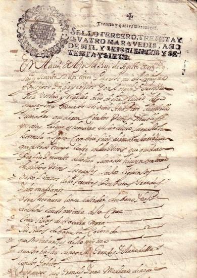 Inventario de bienes de 1677. Loja. Granada