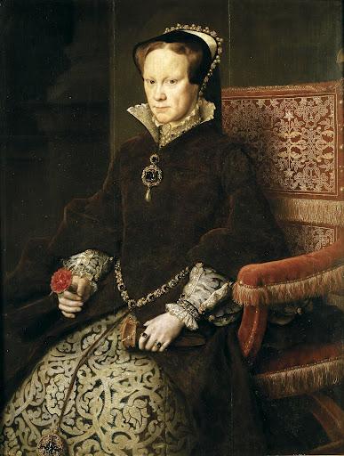 Antonio Moro. Retrato de María Tudor luciendo la perla peregrina.1554. Museo del Prado. Madrid