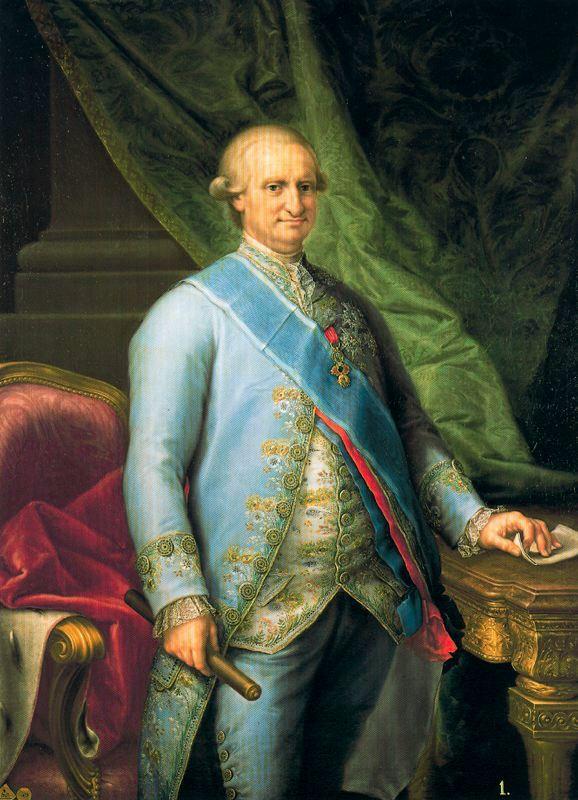 """Francisco Bayeu. """"Carlos IV"""". 1790. Real Academia de Bellas Artes de San Fernando. Madrid"""