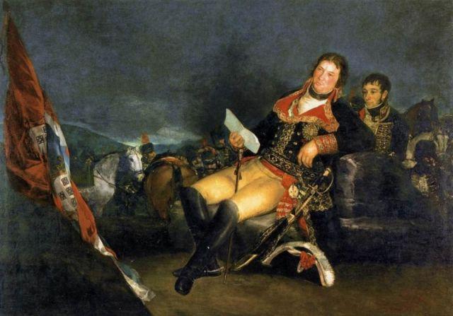 """Francisco de Goya. """"Manuel Godoy, Príncipe de la Paz"""". 1801. Real Academia de Bellas Artes de San Fernando. Madrid. El pintor nos muestra a un Godoy orgulloso de sí mismo, en la cumbre del poder."""