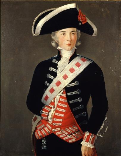 """Francisco Folch Cardona. """"Godoy, guardia de Corps"""". Hacia 1787.Museo de Real Academia de Bellas Artes de San Fernando. Madrid. %22Según podemos apreciar en retratos posteriores, Godoy no se parecía mucho a este retrato."""