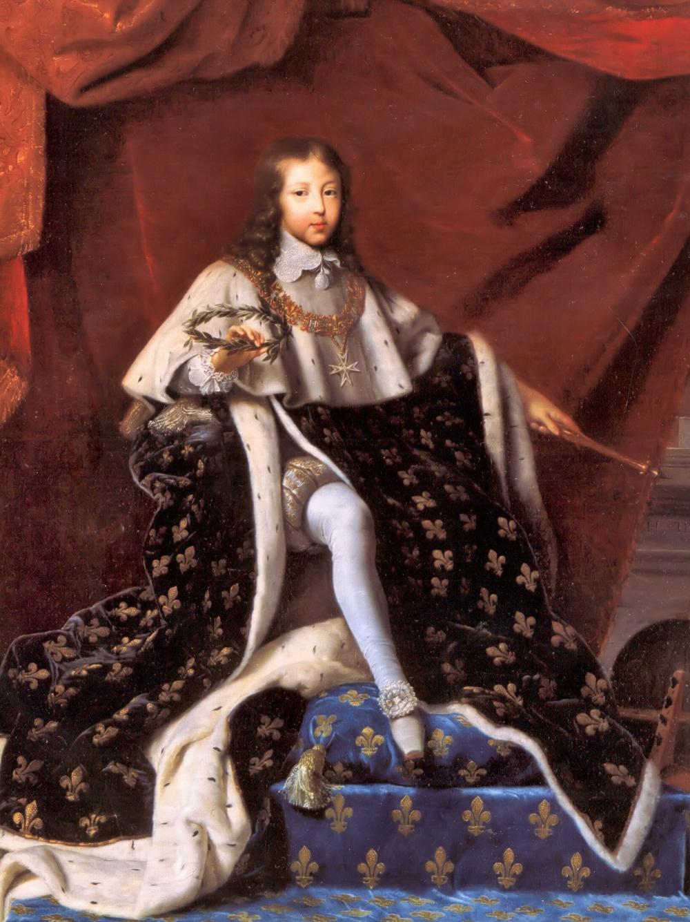 Henri Testelin. Luis XIV niño con el traje de la coronación. 1648. Castillo de Versalles.