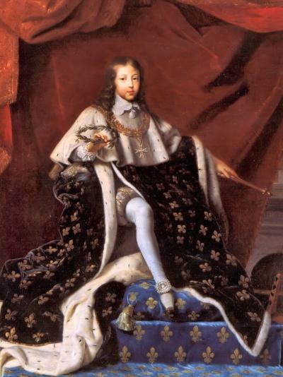 Henri Testelin. Luis XIV con diez años y ya rey. 1648. Chateau de Versalles.