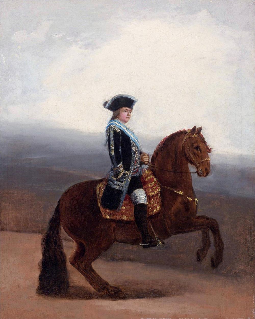 Francisco de Goya. Boceto para el retrato ecuestre de Manuel Godoy, duque de la Alcudia. 1794. Colección particular.