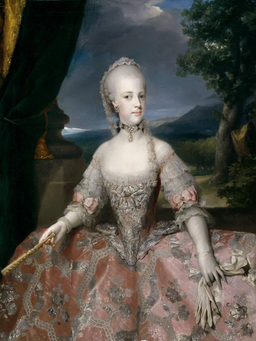 Anton Rafael Mengs. María Carolina de Habsburgo-Lorena, reina de Nápoles. Hacia 1768. Museo Nacional del Prado. Madrid.