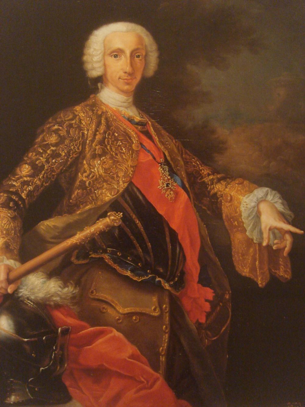 Guiseppe Bonito.Carlos III como rey de Nápoles. 1740. Real Academia de Jurisprudencia y Legislación. Madrid.
