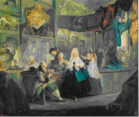Luis Paret. La tienda del anticuario. 1772. Museo Lázaro Galdiano. Madrid.