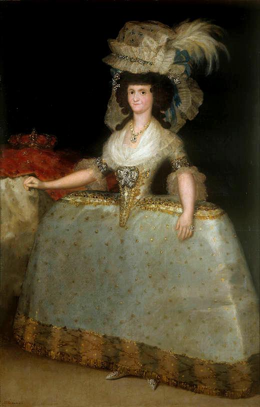 Francisco de Goya. La reina María Luisa con tontillo. 1789. Museo del Prado. Madrid.