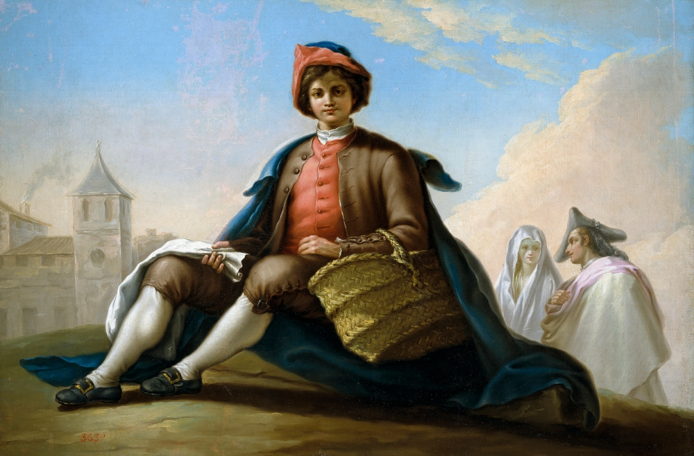 Ramón Bayeu. El muchacho de la esportilla. 1786. Museo del Prado. Madrid.