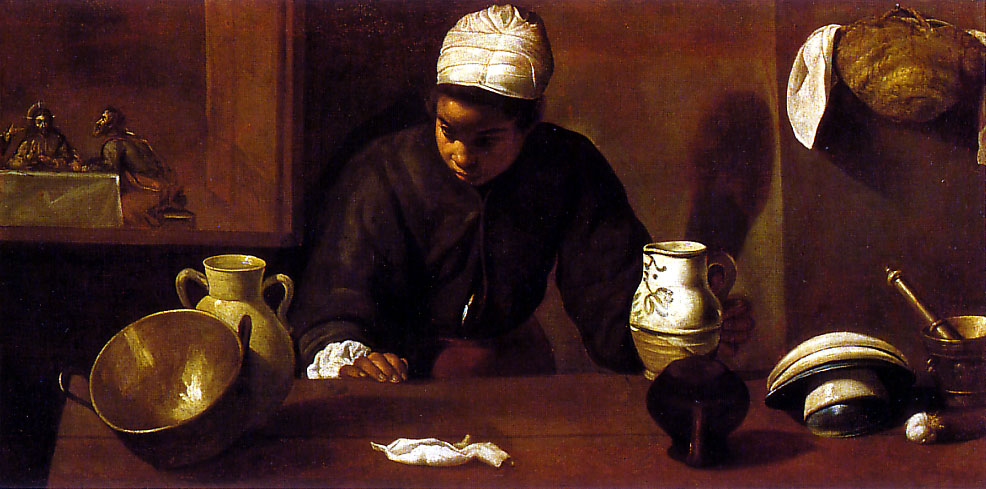 Diego Velázquez. La cena de Emaús. La Mulata. National Gallery. Dublin.
