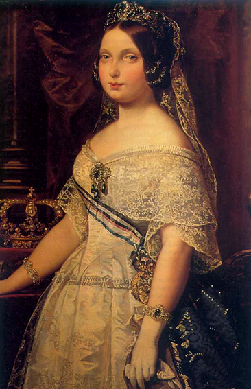 Federico de Madrazo. Isabel II. 1844. Real Academia de Bellas Artes de San Fernando. Madrid