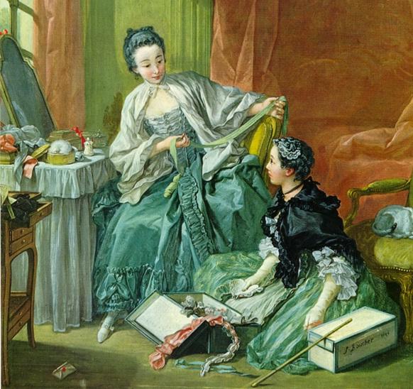 Fracois Boucher. La vendedora de modas. 1756. Museo de Estocolmo.