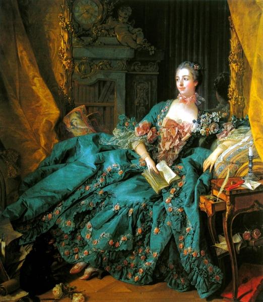 Francois Boucher. Madame de Pompadour. 1758. Alte Pinakothek. Munich.