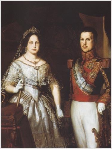 Anónimo. Isabel II y su marido Francisco de Asís.