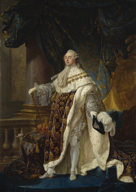 Antoine-Françoise Callet. Luis XVI. c 1788. Museo del Prado. Madrid.