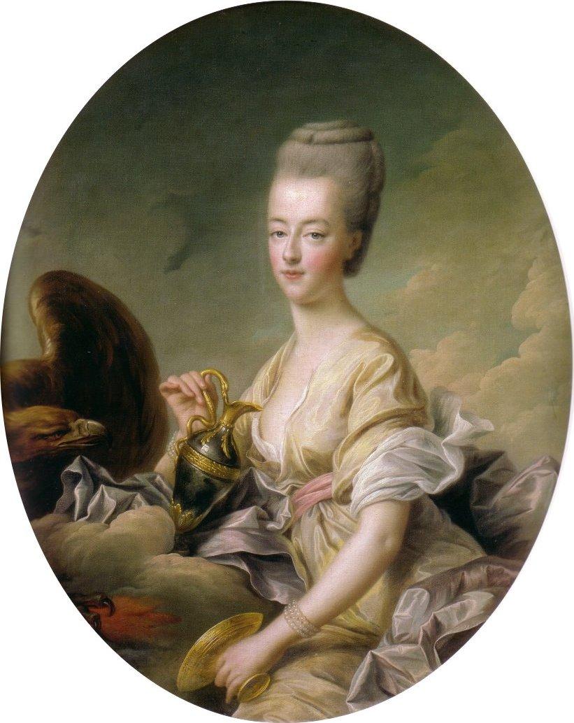 Françoise- Hubert Drouais, Maria Antonieta delfina de Francia, retratada como Hébé. 1773. Museo Condé. Castillo de Chantilly.
