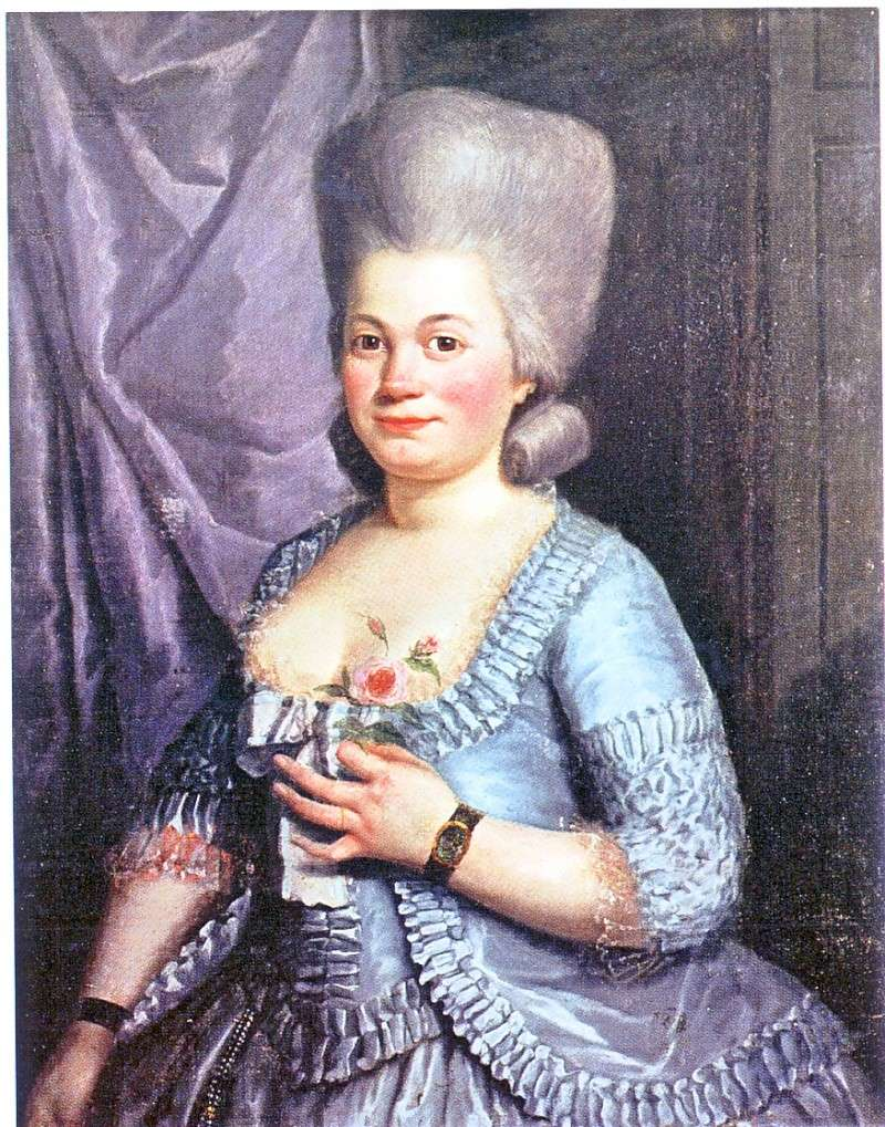 "Retrato de Rose Bertin. Calificada como ""ministra de la moda"""