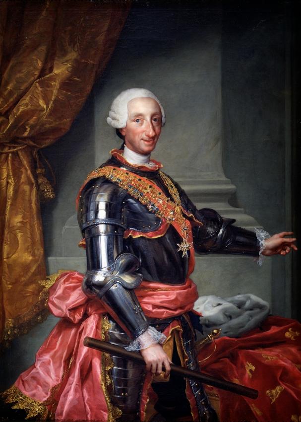 Anton Rafael Mengs. Carlos III. 1761. Museo del Prado. Madrid.