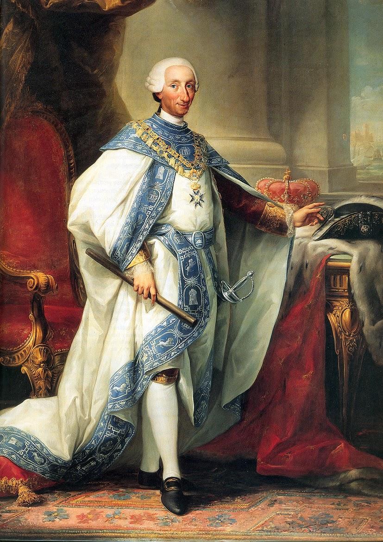 Anton Rafael Mengs. Carlos III. Palacio Real de Madrid.