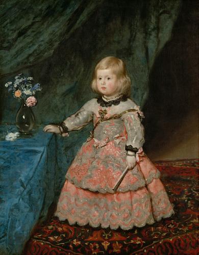 Diego Velázquez. Infanta Margarita vestida de rosa. 1653. Museo del Prado. Madrid.