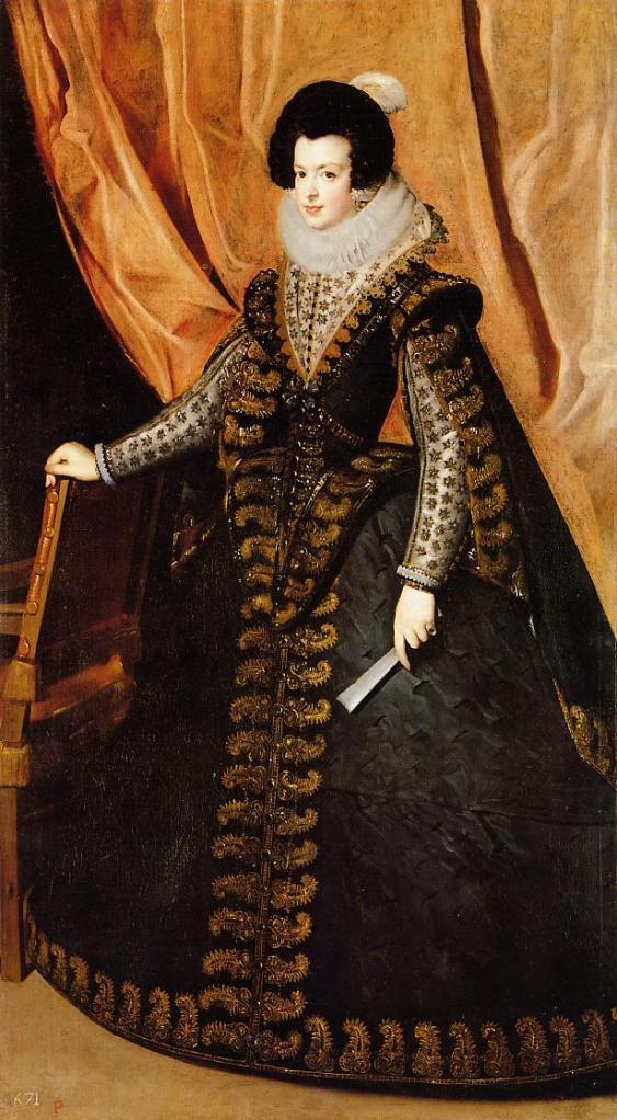 Diego Velázquez. Isabel de Borbón. 1632. Colección privada. Nueva York.