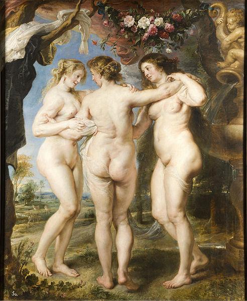 Peter Paul Rubens. Las tres gracias. Hacia 1635. Museo del Prado. Madrid.