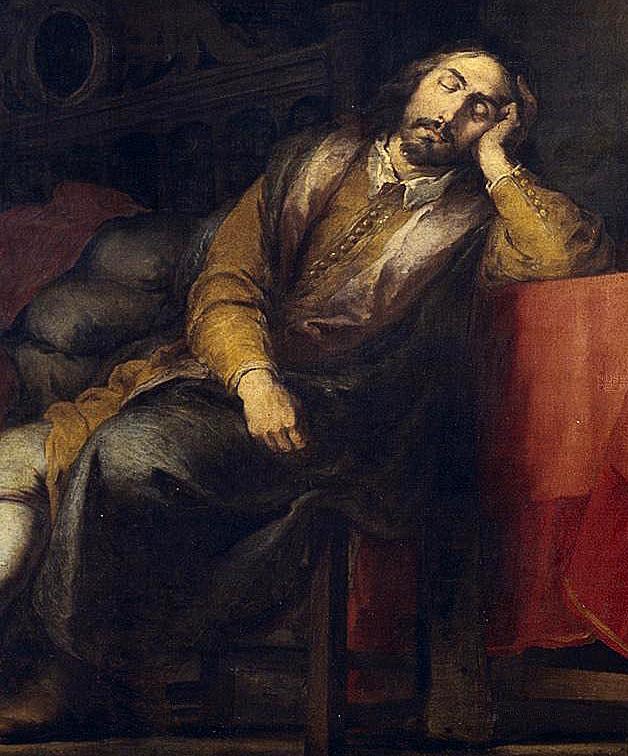 Bartolomé Esteban Murillo. Sueño del patricio. Detalle patricio. Hacia 1663. Museo del Prado. Madrid.