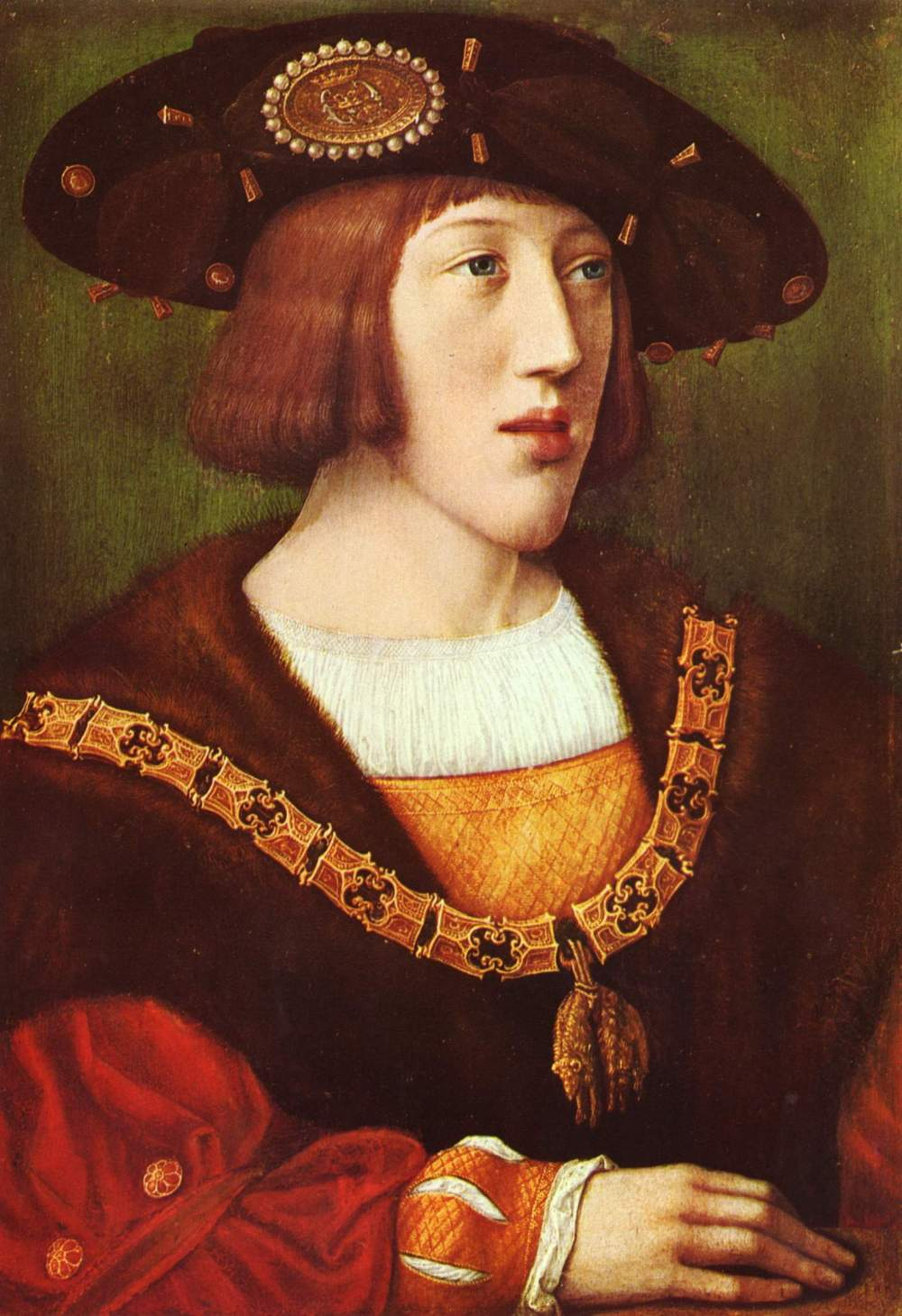 Bernaerd Van Orley. Retrato de Carlos I joven. Hacia 1515. Museo del Louvre. Paris
