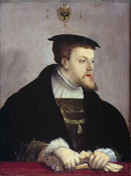 Cristoph Amberger. Retrato de Carlos V emperador del Sacro Imperio. c 1532. Gemäldgalerie. Berlin.