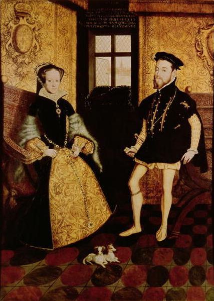 Hans Eworth. Felipe II y María Tudor, reyes de Inglaterra. 1588. Woburn Abbey. Bedfordshire