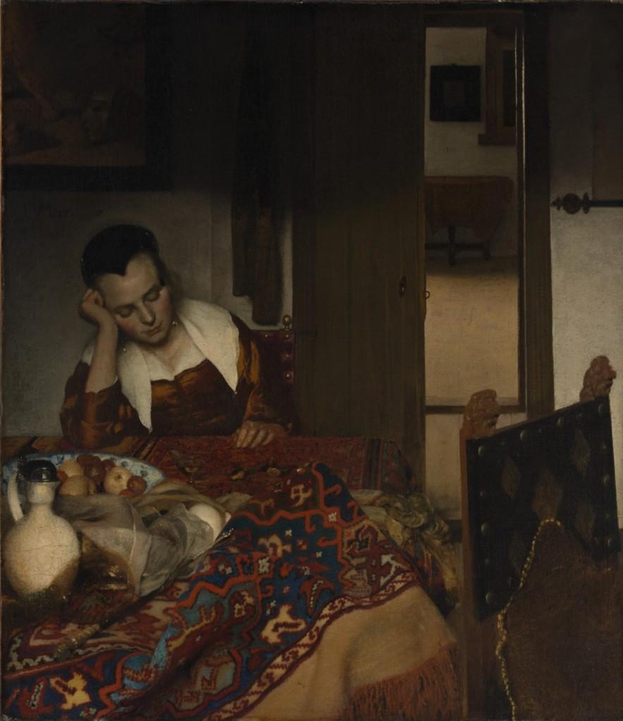 Johannes Vermeer. Joven dormida. Hacia 1656-1657. Metropolitan Museum. Nueva York.