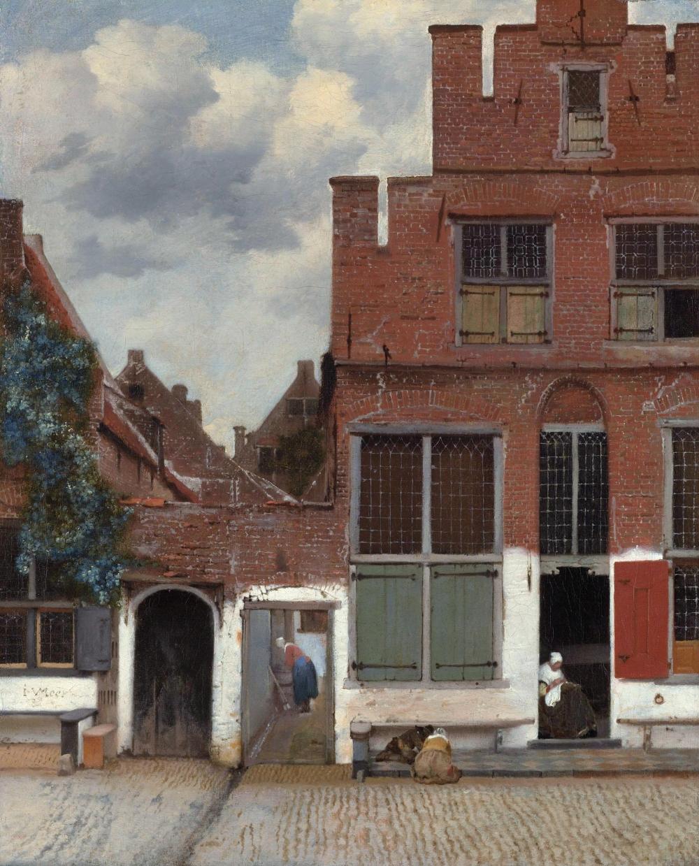 Johannes Vermeer. La callejuela. Hacia 1657-1658. Rijkmuseum. Ámsterdam.