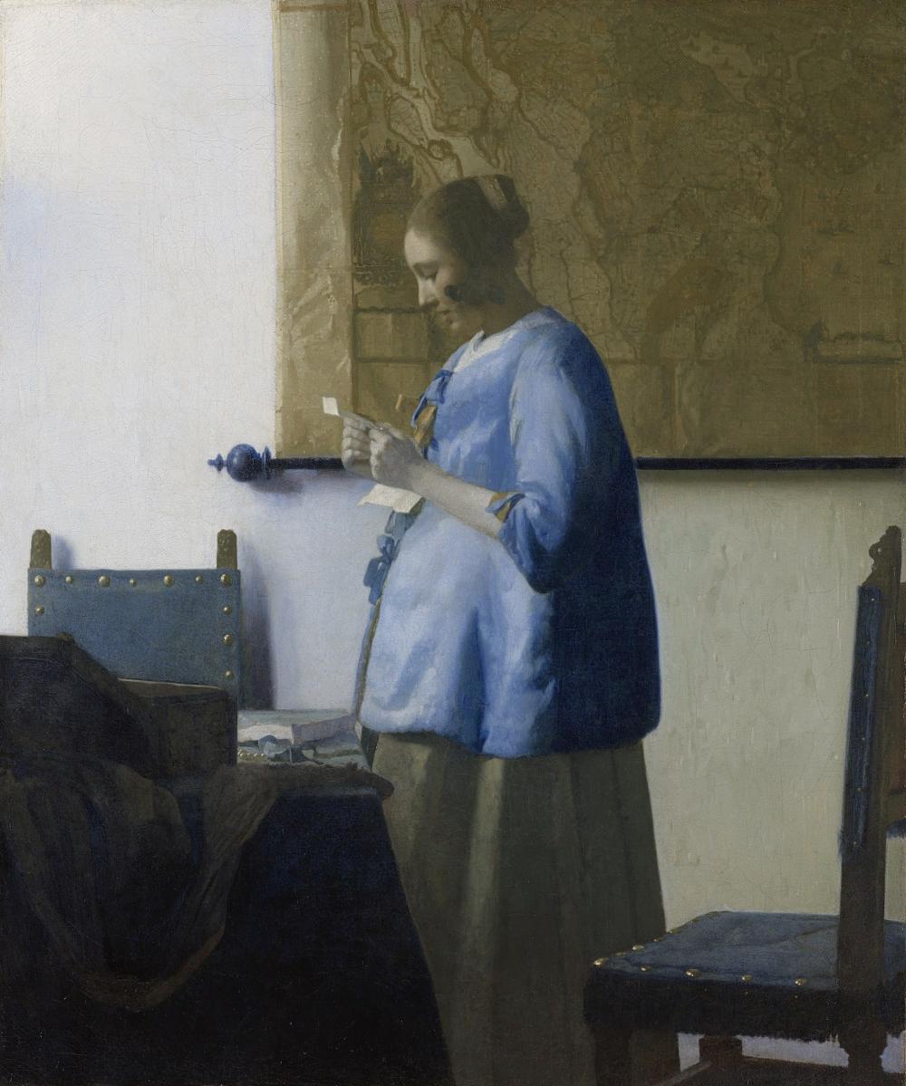 Johannes Vermeer. Muchacha de azul leyendo una carta. ca. 1662-1663. Rijksmuseum. Amsterdam.