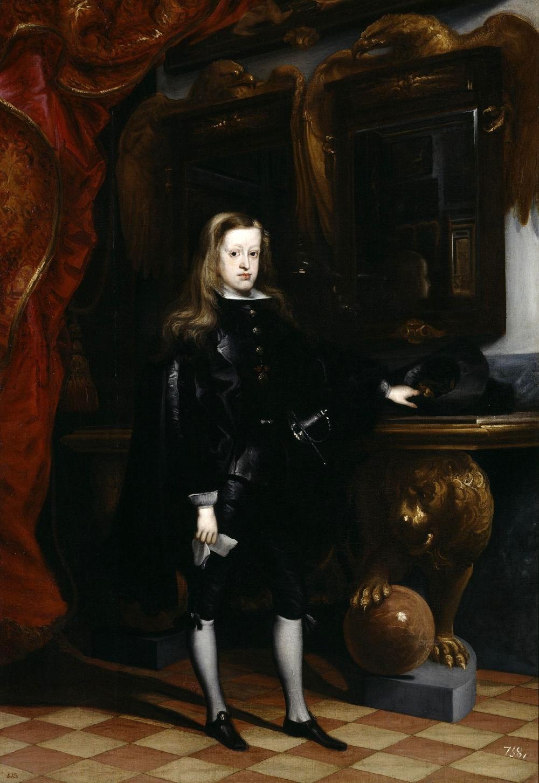 Juan Carreño de Miranda. Carlos II de España en el Salón de los Espejos del Real Alcázar de Madrid. 1675. Museo del Prado. Madrid.