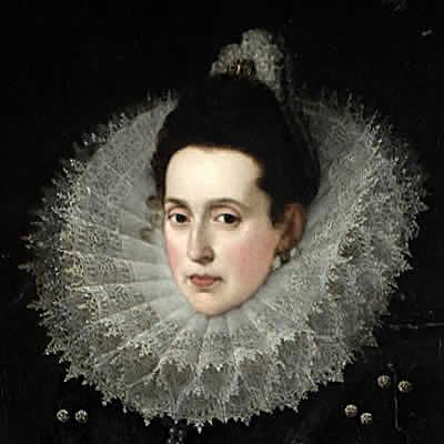 Juan Pantoja de la Cruz. Catalina de la Cerda. Primera duquesa de Lerma. Detalle. 1602. Casa de Pilatos. Sevilla.