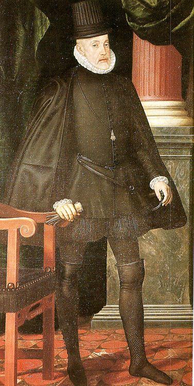 Juan Pantoja de la Cruz. Felipe II. 1590. San Lorenzo de El Escorial. copia