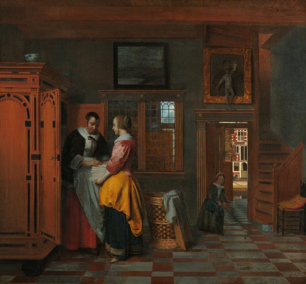 Pieter de Hooch. Armario de ropa blanca. 1663. Rijksmuseum. Amsterdam.