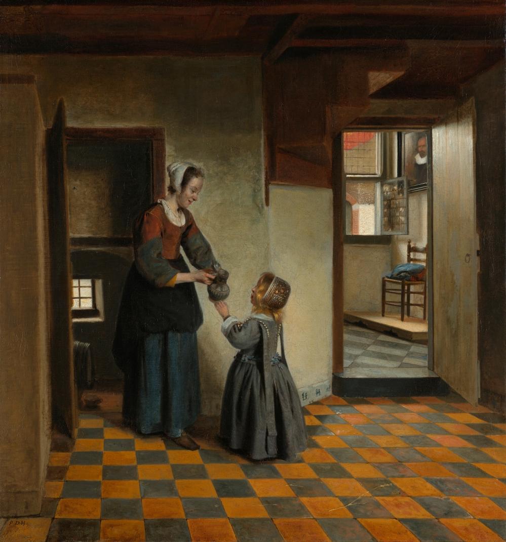 Pieter de Hooch. Mujer con niña en despensa. c 1658. Rijksmuseum. Amsterdam
