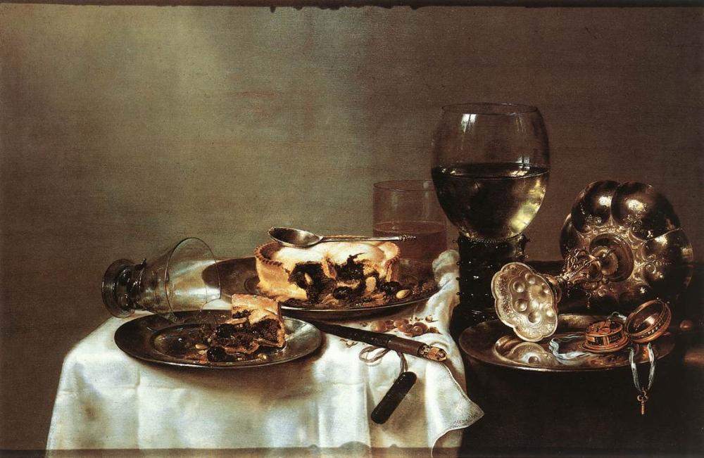 Willem Claesz. Heda. Mesa con desayuno. Gemäldegalerie. 1631. Dresden.