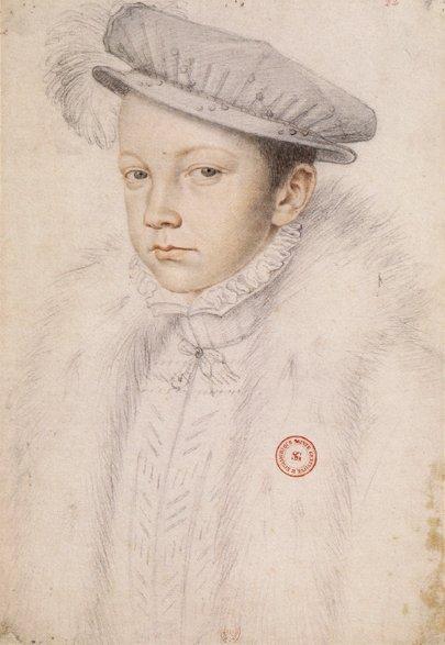 François Clouet. Francisco II de Francia. 1560. Paris BNF.