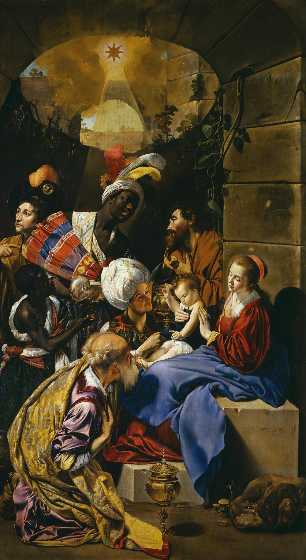 Juan Bautista Maino. Adoración de los Reyes Magos. 1612:14. Detalle. Museo del Prado. Madrid
